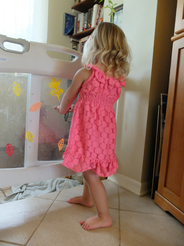 Homemade Window Cling Leaves