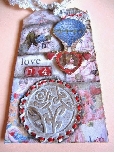 tag febrero vintage y romántico para San Valentín