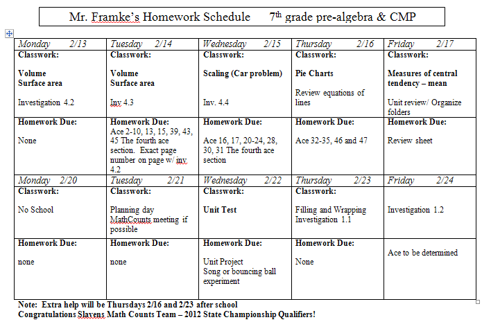Homework assignment sheet Nov 14 to Thanksgiving