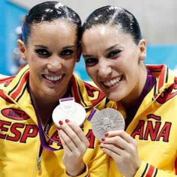 medalla de plata en parejas Ona Carbonell y Andrea Fuentes España Juegos Olímpicos de Londres 2012