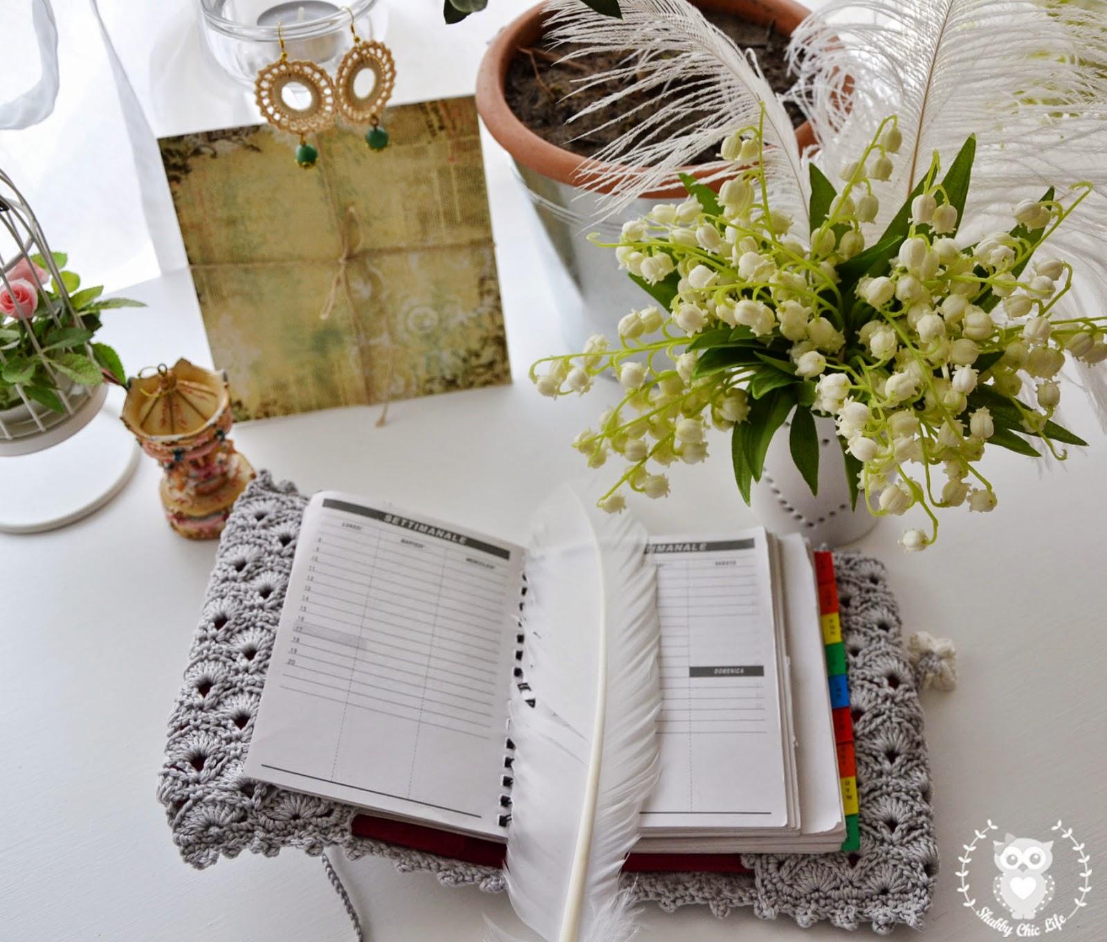 crochet, agenda, organizer