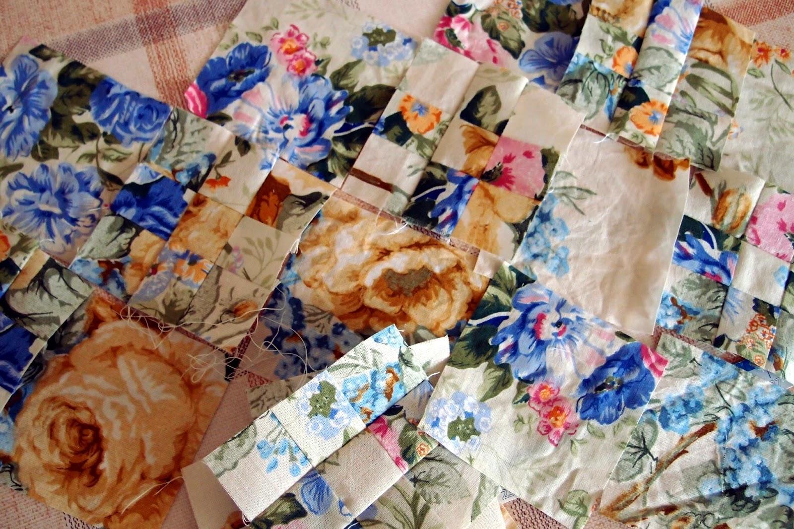 кръпките нарязани цветя за юлския пачуърк