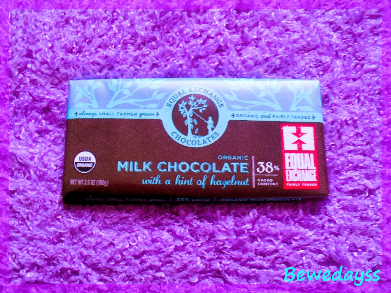 Equal Exchange, Organic Milk Chocolate with a Hint of Hazelnut