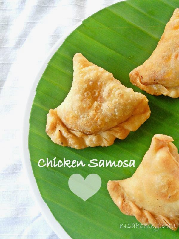 Chicken Samosa Recipe, Malabar Chicken Samosa (Kerala Style) | Cooking ...