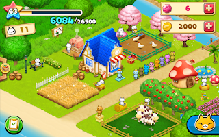 Screenshots of the Meow Meow Star Acres for Android tablet, phone.