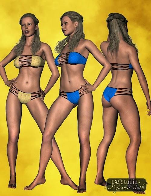 Bikini dynamique pour DAZ Studio