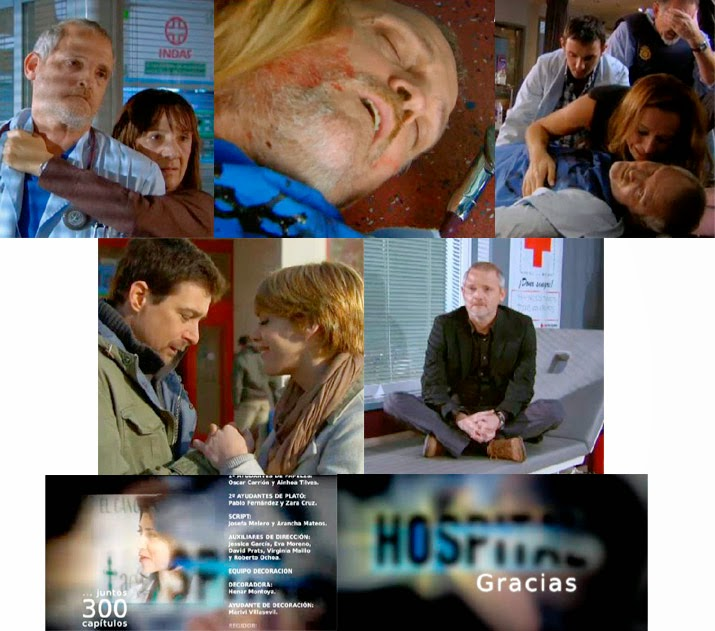 finales de series, muerte de Vilches en Hospital Central, capítulo 300