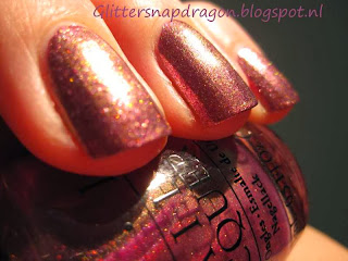 China Glaze Strike Up A Cosmo, OPI Movin Out Glitter Bit Of Music