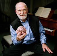 El dortor está sentado en una mesa con la figura de un cerebro en la mano