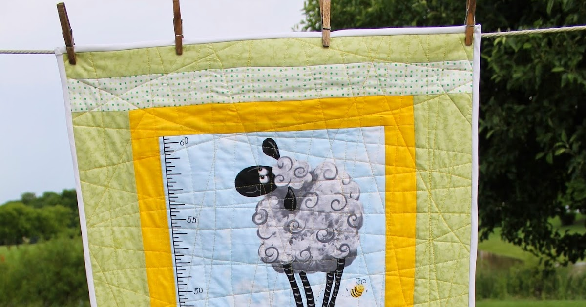 Sunshine Sews Quilted Growth Chart Completed