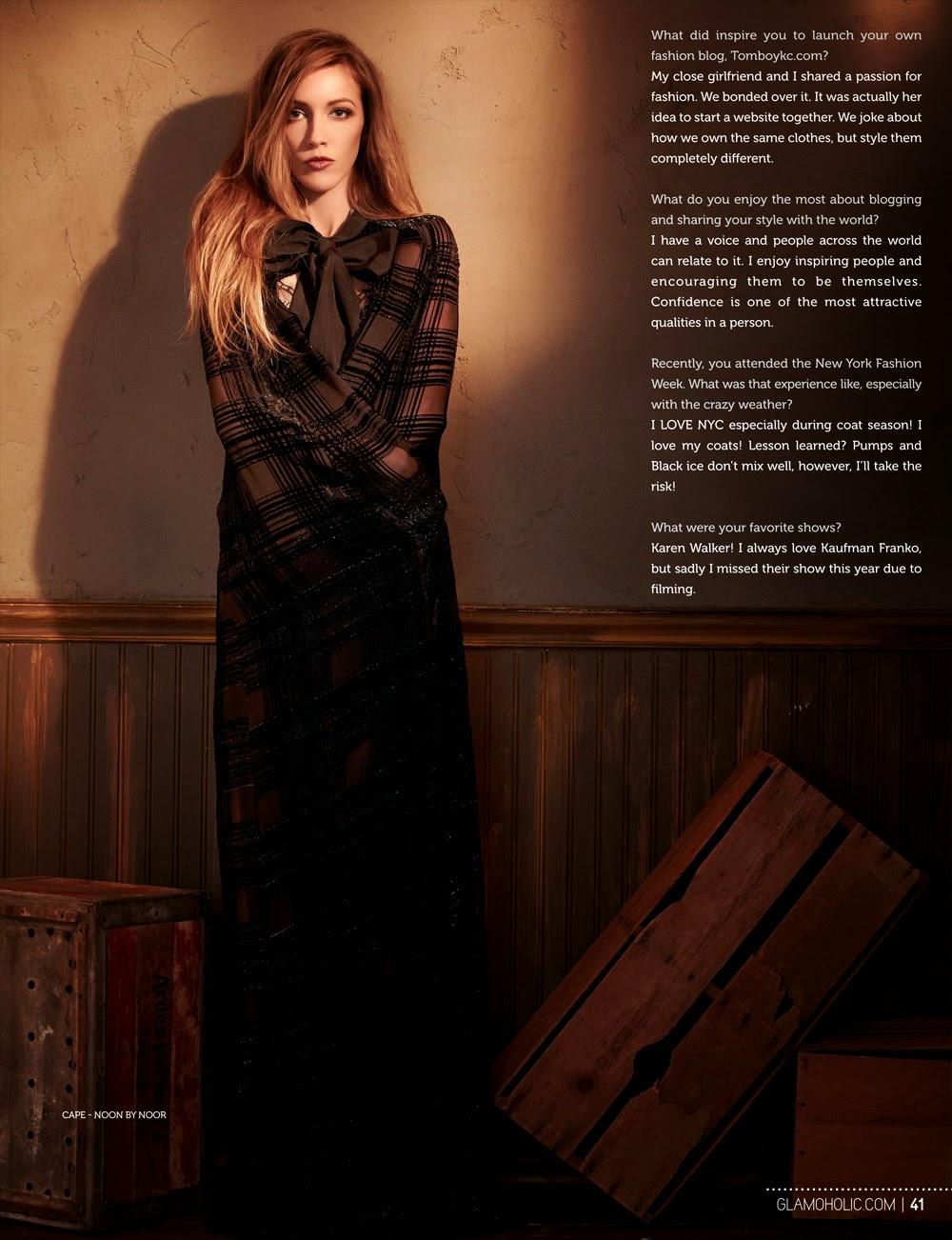 Katie Cassidy - Glamoholic Magazine US, March 2014