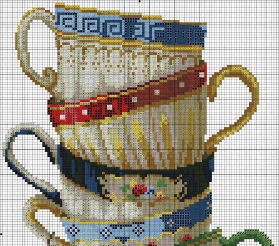 Схема вышивки чашка 67