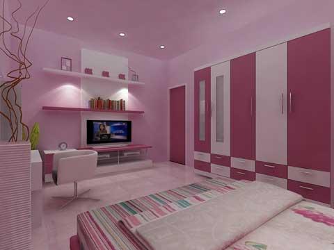 contoh desain kamar anak perempuan minimalis gambar