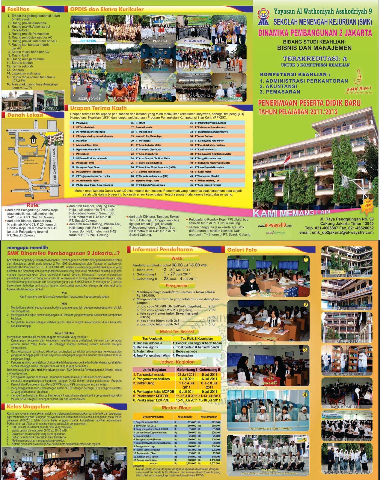contoh-contoh desain brosur sekolah menarik