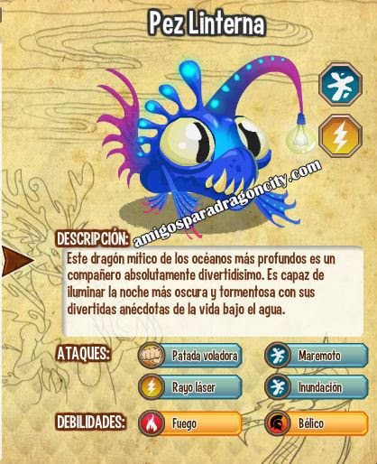 imagen del dragon pez linterna y sus carateristicas