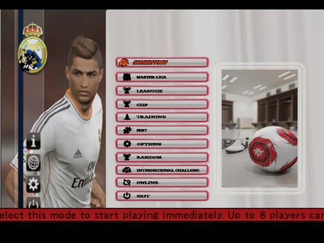 Download e_teks tampilan gameplay Pro Evolution Soccer 6 versi 2014... Cara mengganti tampilen Pes 2006 seperti Pes 2014