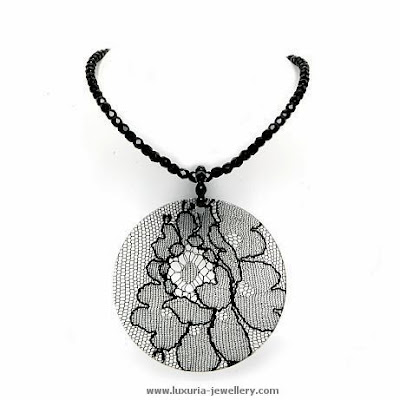 black lace, black jewelry,lace jewelry