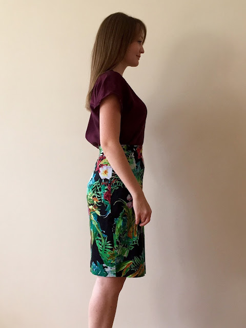 Diary of a Chain Stitcher: Silk True Bias Sutton Blouse and Tropical Sew Over It Ultimate Pencil Skirt