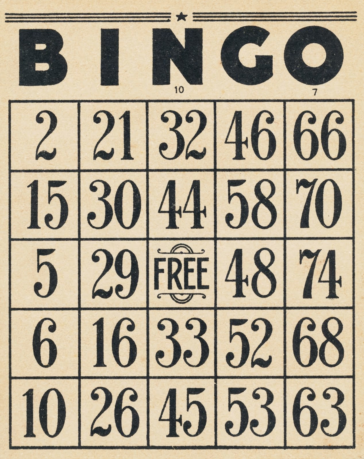 It's just a picture of Astounding Sample Bingo Card