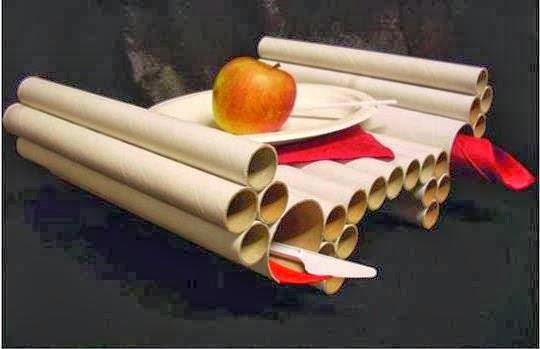 Manos a la obra reutilicemos cajas de carton y tubos el detalle que - Mesas de carton ...