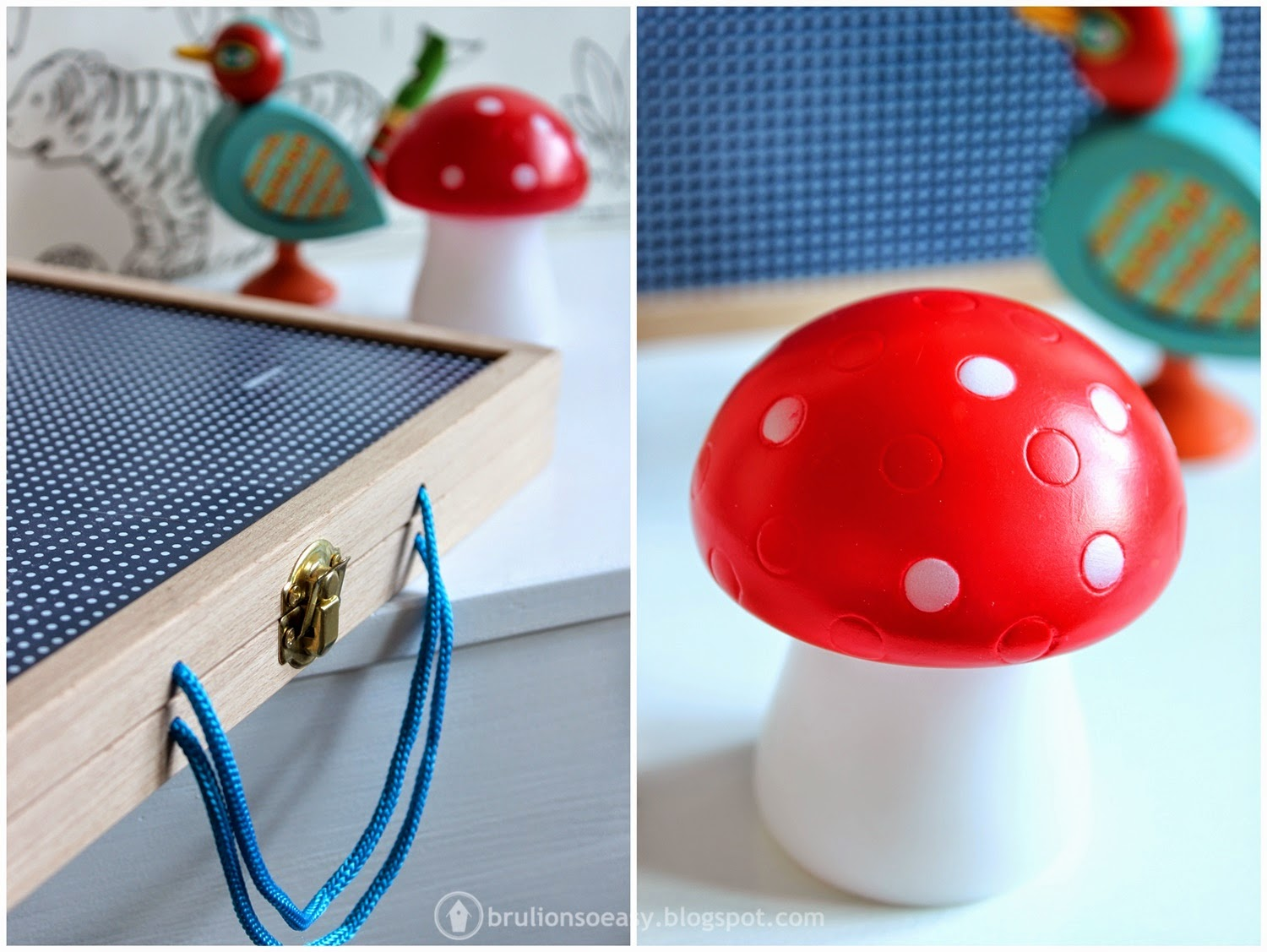 woodland mushroom led light