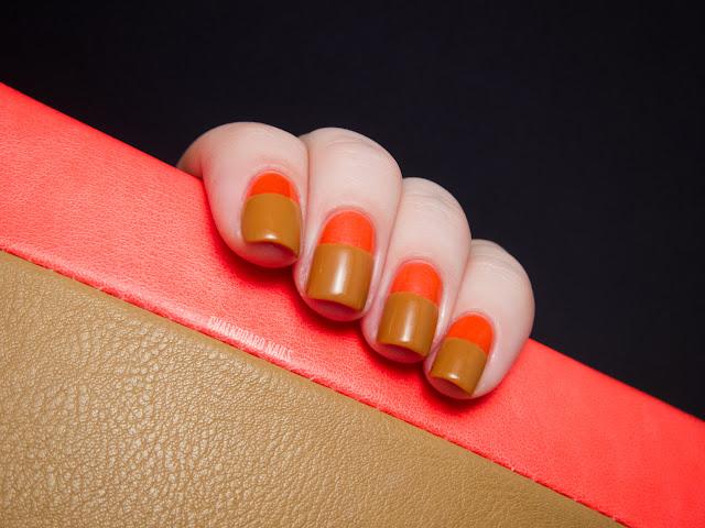Chalkboard Nails: Neon wallet color blocking