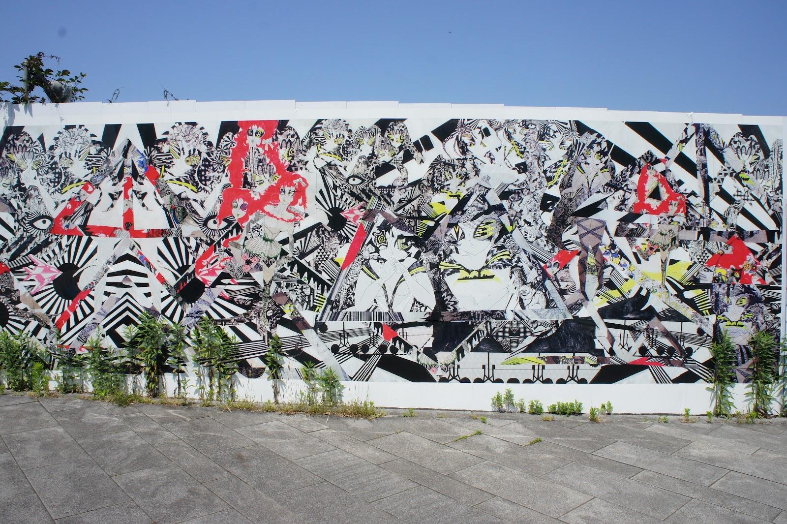 Yokohama graffiti wall - A Cool Graffiti Wall In Yokohama