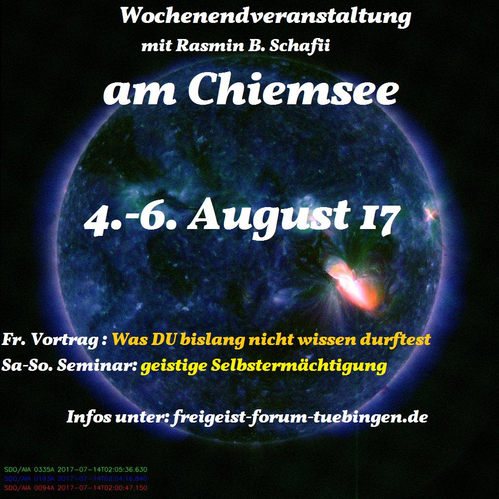4.5.6. August- Wochenendveranstaltung am Chiemsee