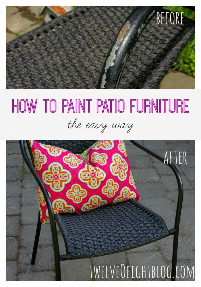 how to paint patio furniture, diy home decor, summer decor, patio decor