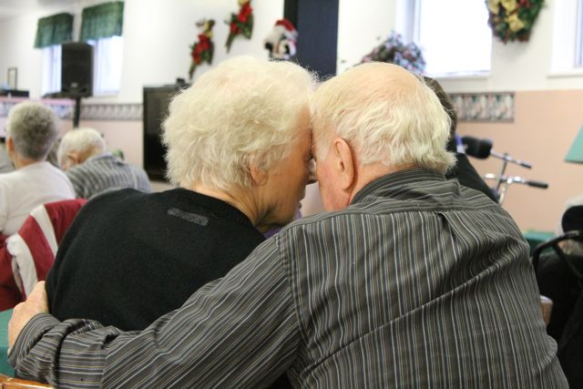 Still a loving couple, despite dementia