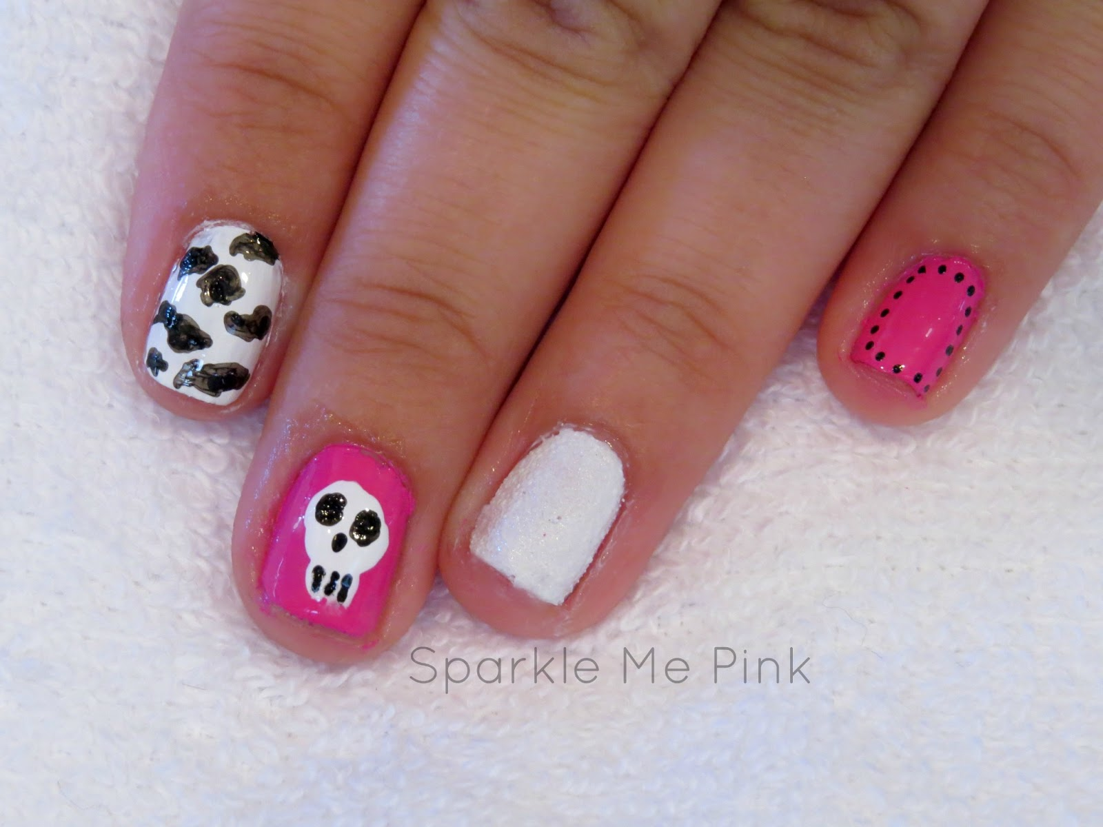 Sparkle Me Pink Street Style All Sally Hansen Punk Nail Art Tutorial