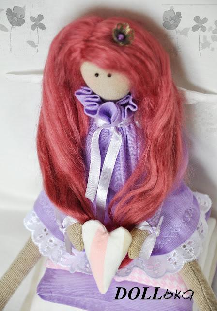 Тильда принцесса текстильная кукла ручной работы