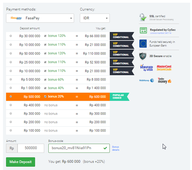 Alternative to binary options