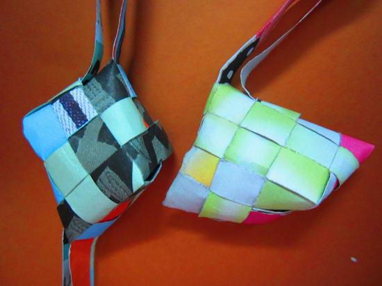 malasia indonesia asian KETUPAT LEBARAN reuse paper weave puso