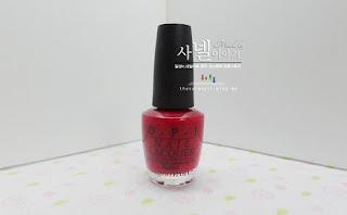 OPI NL H02, OPI Nail Lacquer, Red  Nail Polish!
