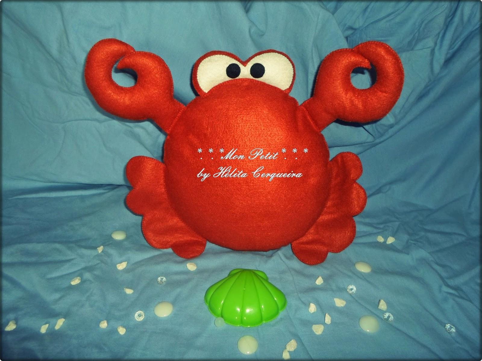 fundo do mar-decoração-aniversário-feltro-pequena sereia-caranguejo
