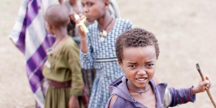 Amhara gyerekek. Tisz-Abbai, Etiópia.