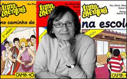 Ana Maria Magalhães de visita às escolas do nosso agrupamento