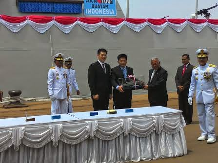 Menteri Pertahanan Resmikan 5 Kapal Perang