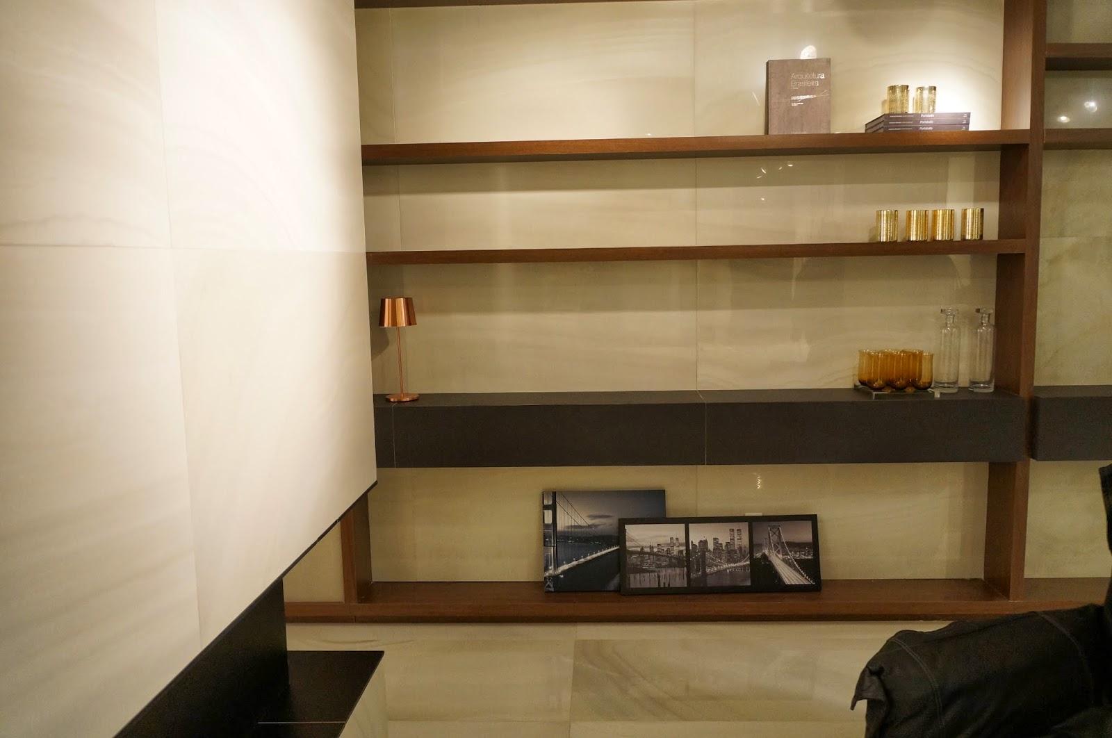 ambiente com porcelanato da Portobello - Expo Revestir 2014