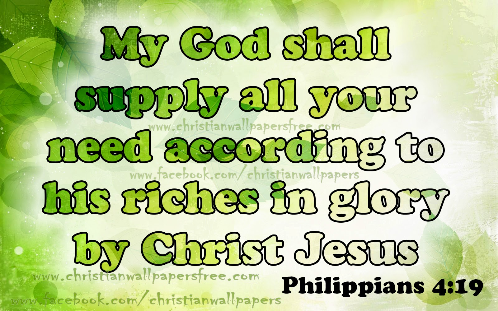 But My God Shall Supply All Your Need According To His Riches In Glory By Christ Philippians 4 19