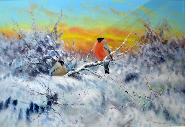 зима в живописи Henning Hougaard