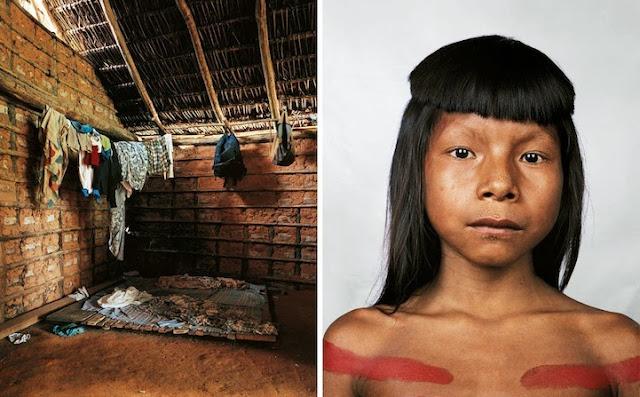 Retratos de niños alrededor del mundo y el lugar en donde duermen