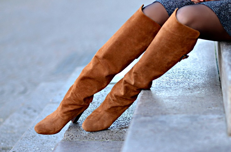 Suede Over The knee Boots, H&M Paris Show Collection