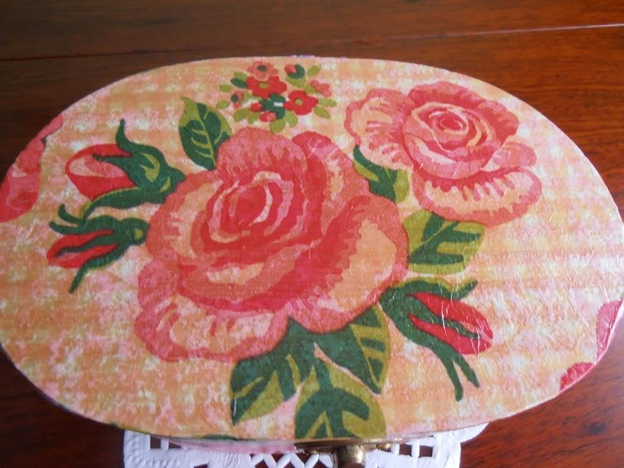 Caja decorada con servilletas de papel manualidades - Servilletas decoradas de papel ...