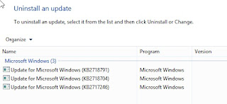 Windows 8 Metro Apps,Remove an Update