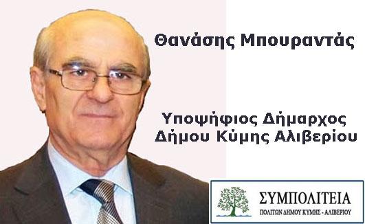 Θανάσης Μπουραντάς Υποψήφιος Δήμαρχος Δήμου Κύμης Αλιβερίου