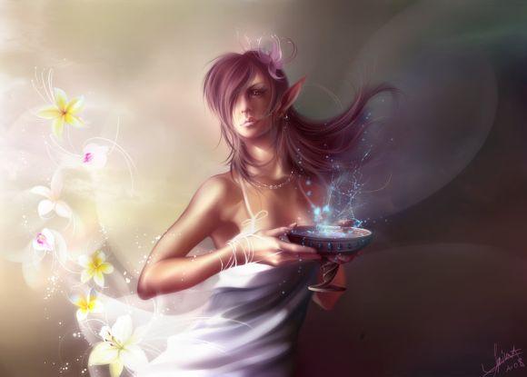 Anastasia Bulgakova sinto-risky deviantart ilustrações conceituais games fantasia sensualidade