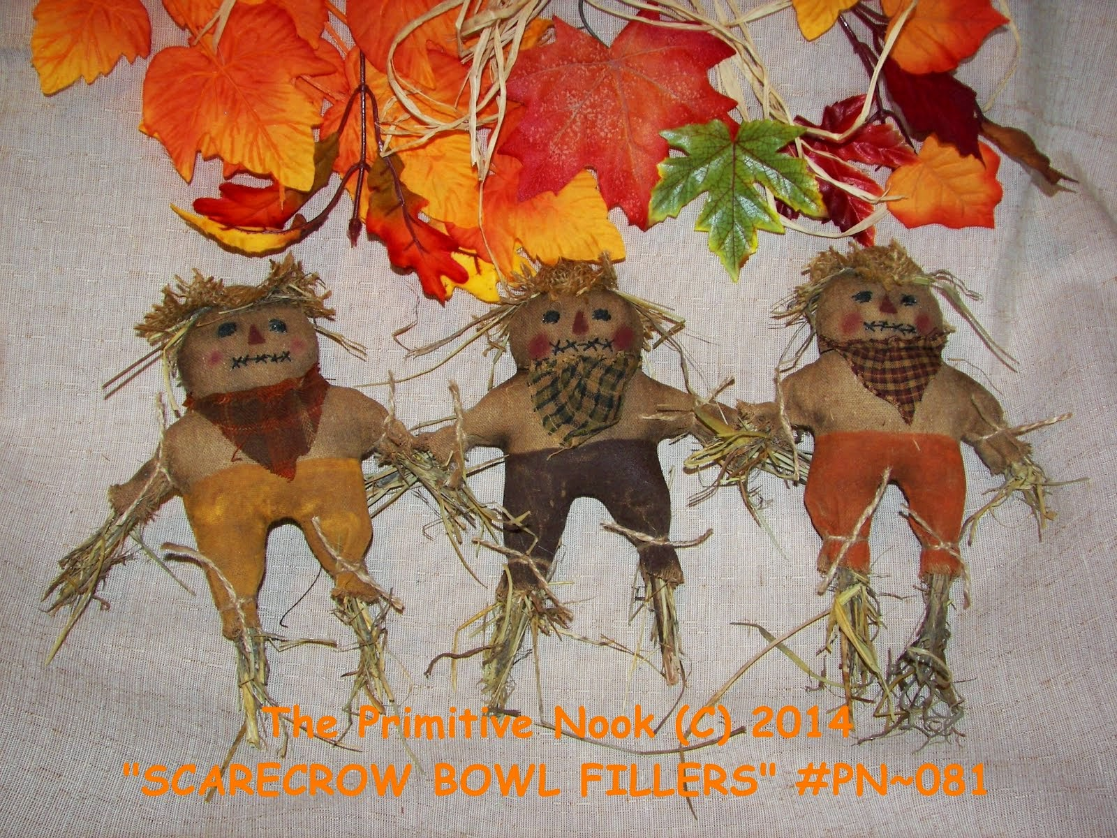 BRAND NEW SCARECROW BOWL FILLERS PATTERN (C) 2014
