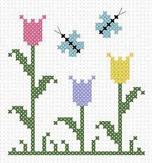 Con i gomitoli di tommy tulipani e farfalle a punto croce for Farfalle a punto croce per bambini